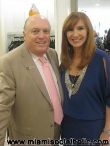 Juan Lopez and Nicole Miller at Saks Fifth Avenue Dadeland