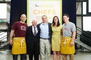 Marc Vetri, Jeff Benjamin, Jay and Liz Scott. and Jeff Michaud