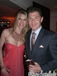 Stephanie March and Bobby Flay