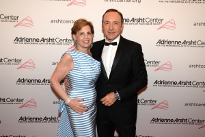 Adrienne Arsht and Kevin Spacey
