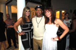 Ana Quincoces, Russell Simmons, and Jill Marin by Manny