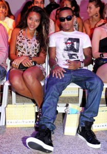 Bow Wow and Angela Simmons at Trina Turk