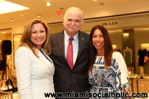 Debbie Murcarsel-Powell, Dr. John Rock, and Debbie Tano