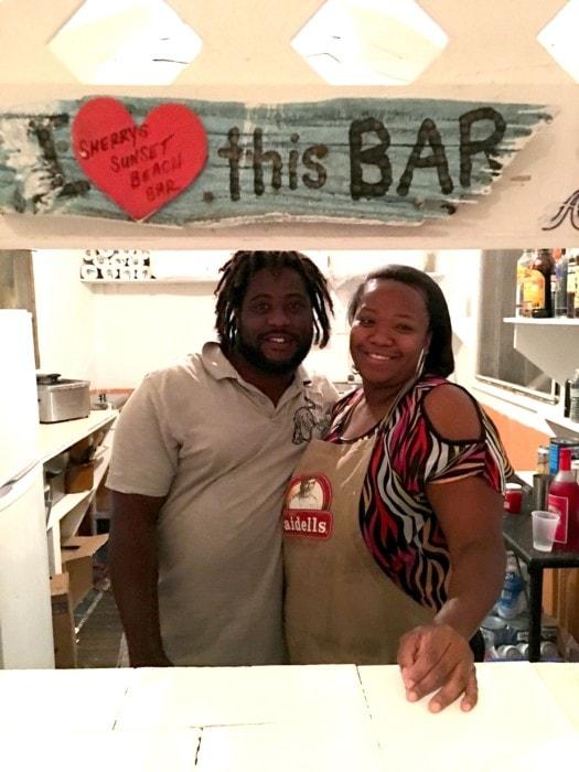 Duvall Hannah and Nishka at Sherry's Beach Bar
