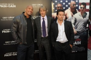 Dwayne Johnson, Michael Bay, & Mark Wahlberg