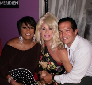 Elaine Lancaster, Dr. Julio Gallo, and Patti LaBelle