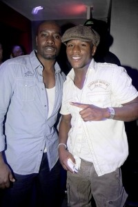 Morris Chestnut and Floyd Mayweather