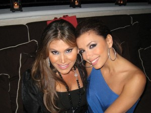 Loren Ridinger and Eva Longoria