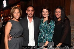 MOCA_Director_Bonnie_Clearwater,Sponso_Angelo_Ricasa_of_Audi,_Mystery_Daes_Co_Chair_Ivonne_Ronderos_andMeredith_Becker_of_Southern_Wine_&_Spirits