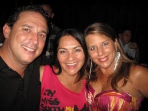 Michael Shore, Ivette Naranjo and Mary Jo Shore at Cafeina