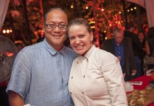 Morimoto and Chef