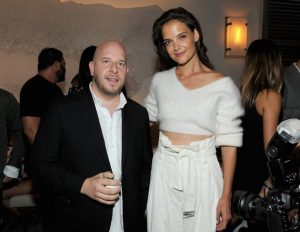 NEW YORK, NY - SEPTEMBER 08: Tao Group co-owner Noah Tepperberg and actress Katie Holmes attend the Avra Madison grand opening party on September 8, 2016 in New York City. (Photo by Craig Barritt/Getty Images for Avra Madison)
