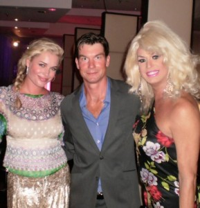 Rebecca Romijn, Jerry O'Connell, and Elaine Lancaster