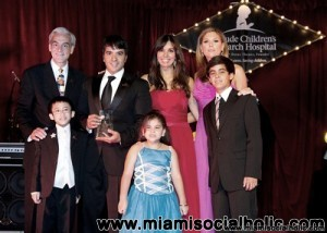 Rick Shadyac, Luis Fonsi, Giselle Blondet, Daisy Fuentes, and St. Jude patients Anthony, Karelys, and Stephan