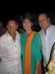 Sanford Ziff, Lucie Arnaz, and Harry (K.C.) Wayne Casey