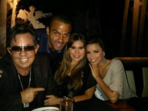JR Ridinger, Tony Parker, Loren Ridinger, and Eva Longoria