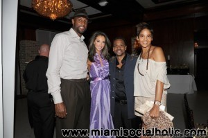 Alonzo Mourning, Katrina Campins, and Tracy Wilson Mourning