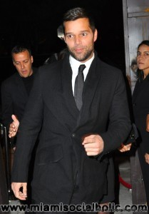 Ricky Martin at Cafeina Lounge in Miami's Wynwood art district.