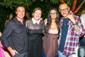 Andre Balazs, Glenda Bailey, Demi Moore, and Terry Richardson